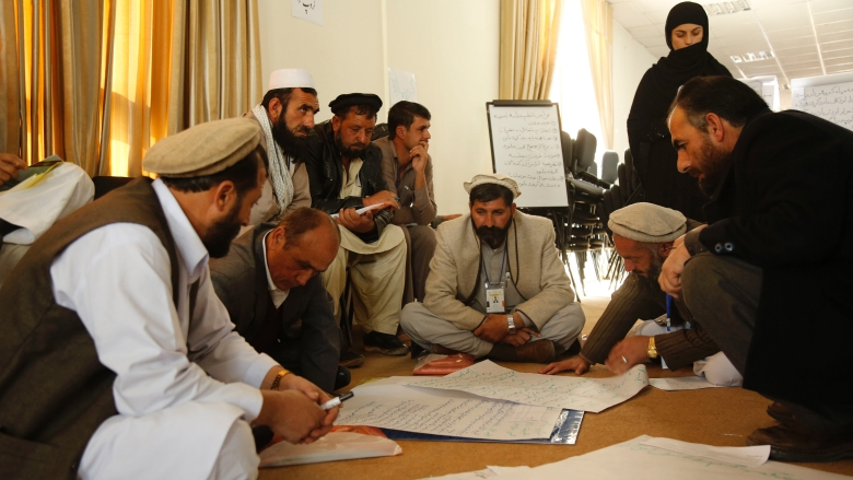31_Oct_2015_Fifth national CDC Consultative_conferece Members of group 10 drafting their recommendations and demands to the government